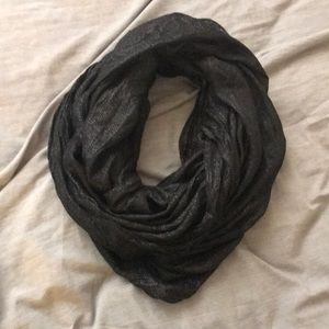 Express Sparkly Black Infinity Scarf